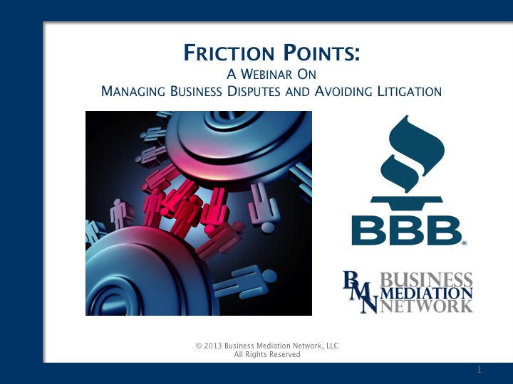 BBB Friction Points 111313