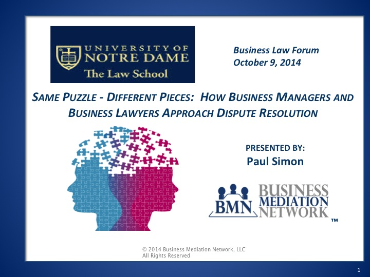 Notre Dame Law School Business Law Forum